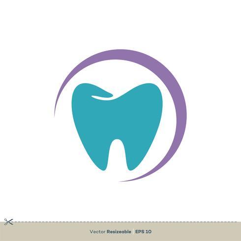Färgrik tandform Logo-mallillustrationsdesign
