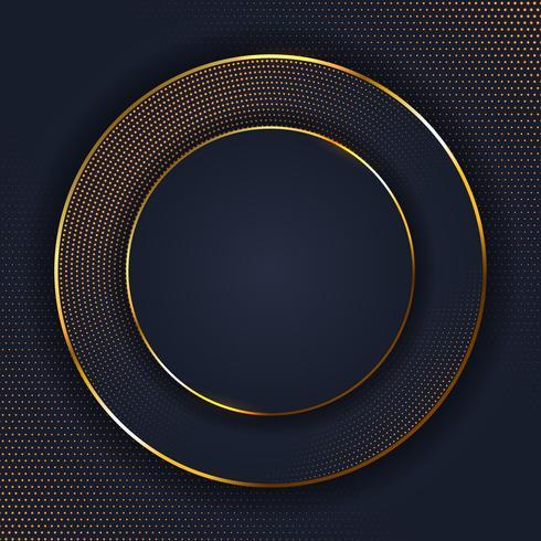 Abstact elegante con diseño de punto dorado