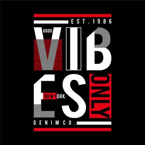 new york good vibes, t-shirt di design per t-shirt
