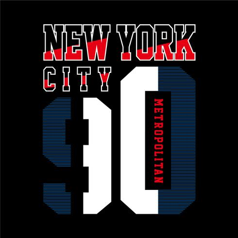 tipografia gráfica design de nova york t shirt