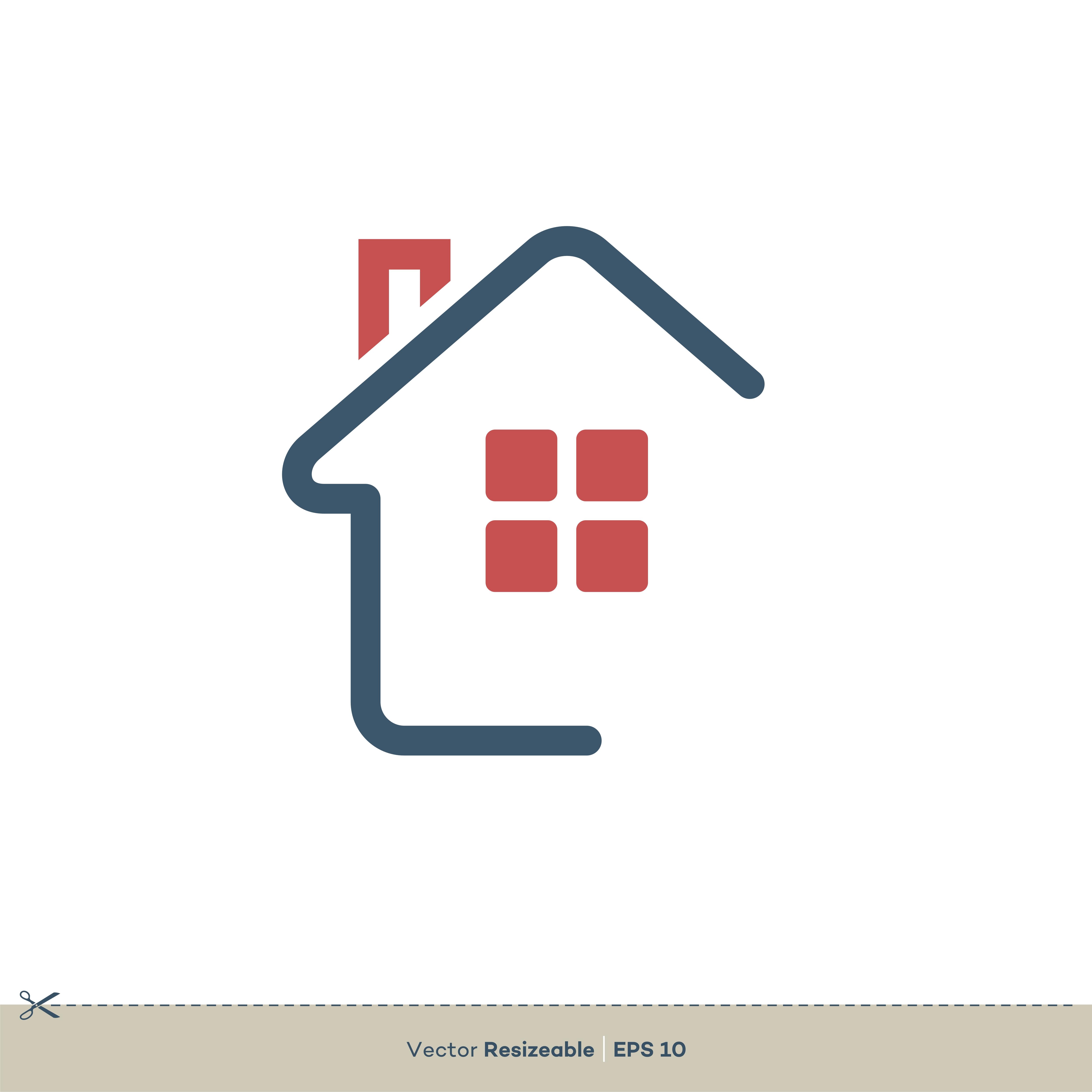 Minimalist Home - Real Estate Logo Template Illustration ...