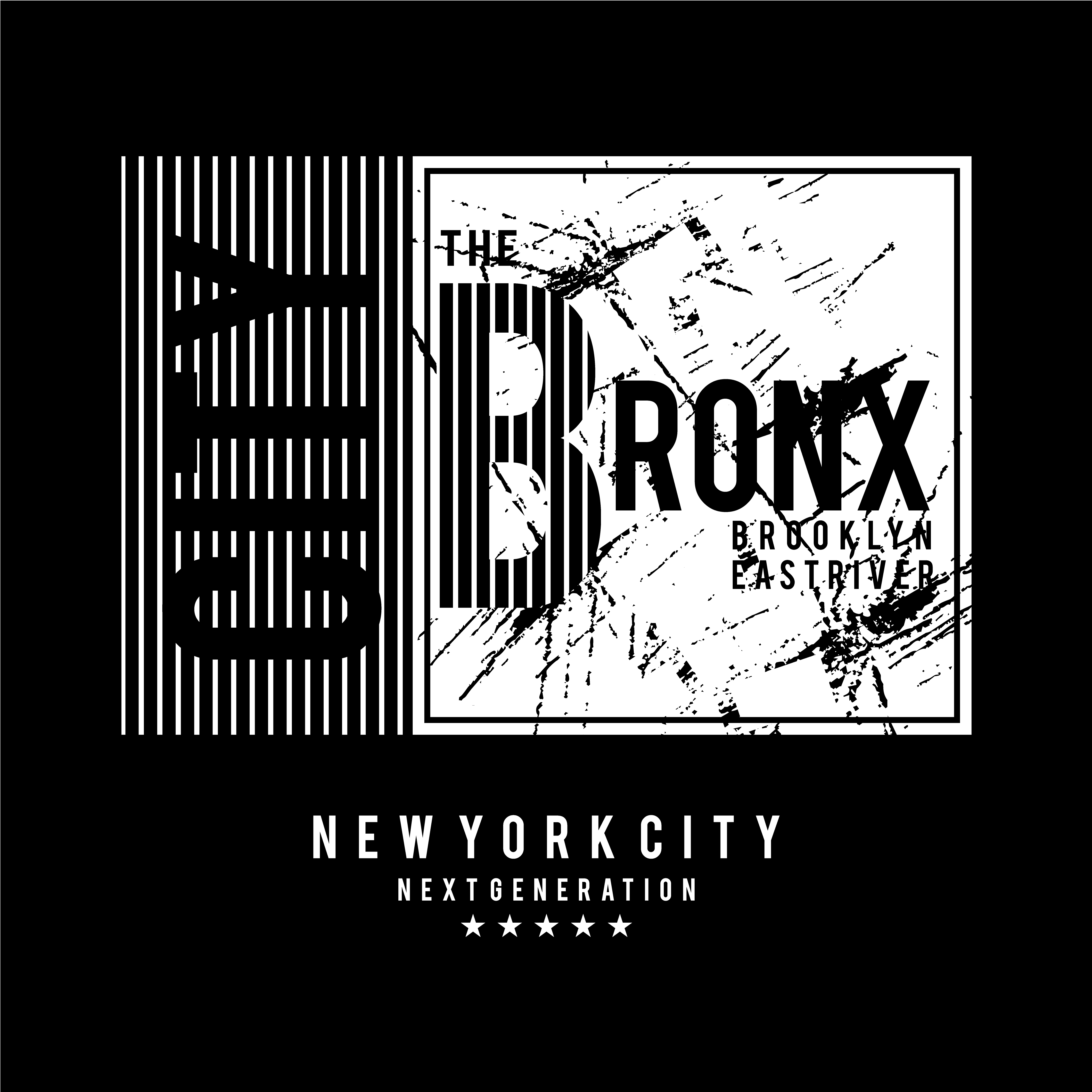 0b3e0fba5 the bronx typographic t shirt design graphic - Download Free Vector Art,  Stock Graphics & Images