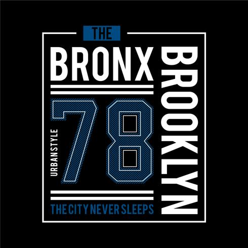 28b9d4aa3 the bronx urban t shirt design graphic typography - Download Free ...