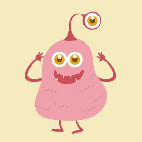 Personagem de desenho animado monstro fofo 003