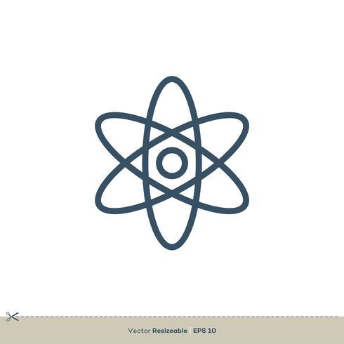 Química Atom Vector ícone logotipo modelo ilustração Design