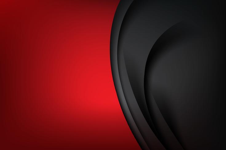 Fondo abstracto rojo oscuro y capa negra se superpone 002 vector