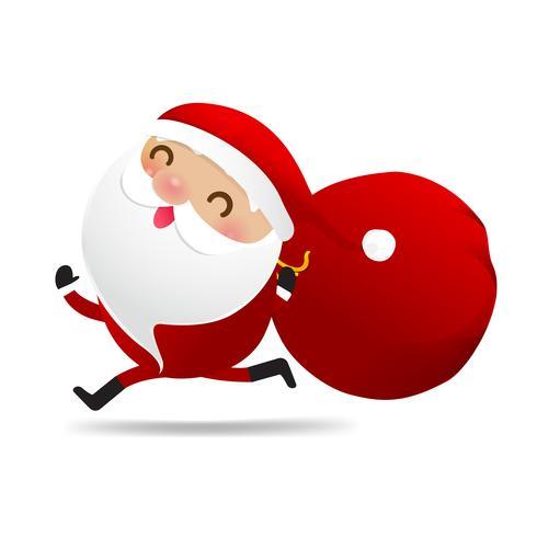 Glückliches Weihnachtscharakter Weihnachtsmann-Karikatur 005