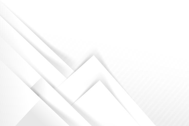 Abstrakt vit och grå bakgrund grundläggande geometri överlappar med skugg vektor illustration 007