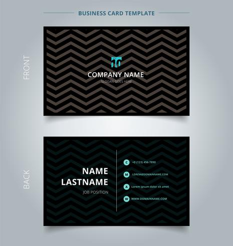 Kreative Visitenkarte Und Namenkartenschablone