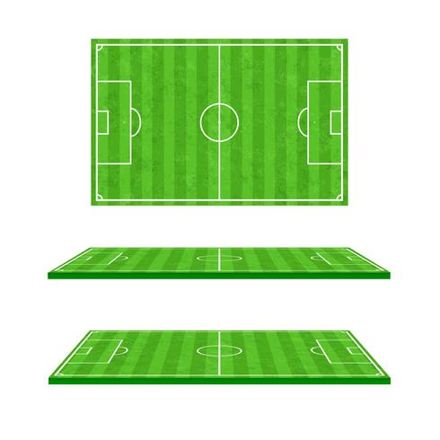 Green soccer field on white background 001