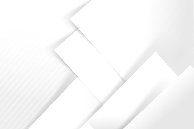 Abstract white and grey background basic geometry overlaps with shadow vector illustration 006