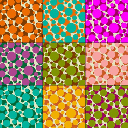 overlapping polka dot vector patterns