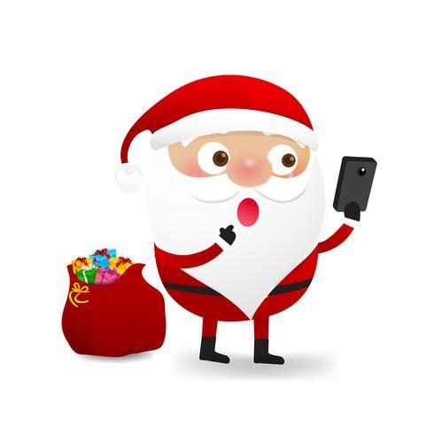 Happy Christmas character Babbo Natale cartoon 002 vettore