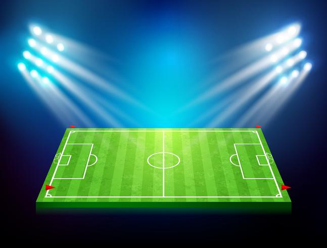 Soccer field with stadium 003 vector