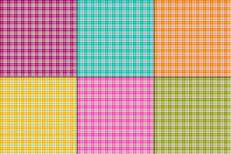 colori vivaci piccoli plaid vettoriale