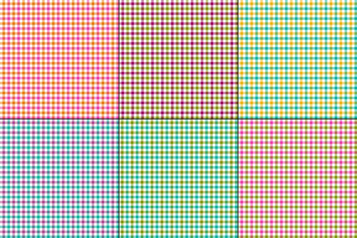 colorful gingham vector plaids
