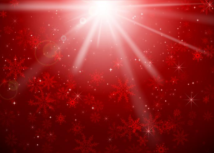 Illustrazione di eps10 eps10 di vettore del bakcground dell'estratto di Natale e del fiocco di neve di Natale