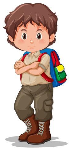 Un boy scout in uniforme