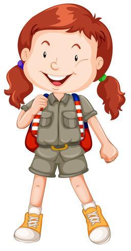 Un personaggio scout ragazza dai capelli rossi