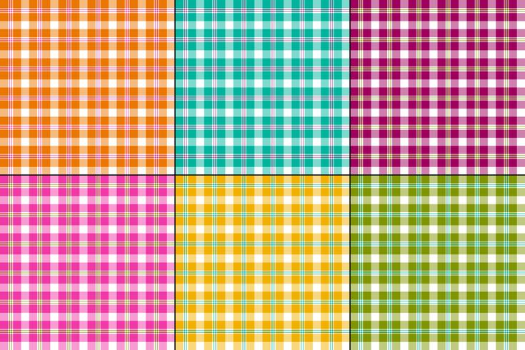 colorful vector plaids