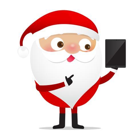 Glückliches Weihnachtscharakter Weihnachtsmann-Karikatur 017