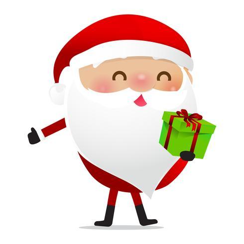 Glückliches Weihnachtscharakter Weihnachtsmann-Karikatur 025