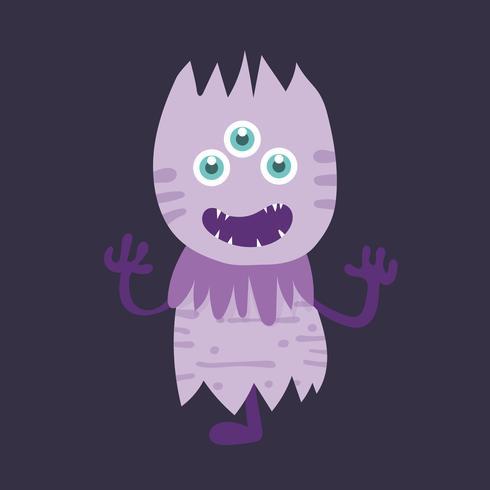 Personagem de desenho animado bonito monstro 006