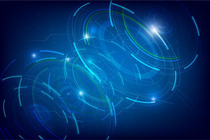 Abstrakter HUD-Technologiehintergrund 002 vektor