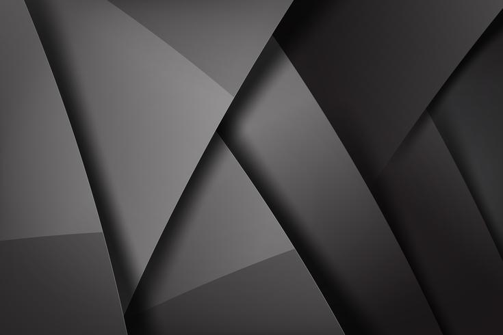 Abstract background dark and black overlaps 003 vector