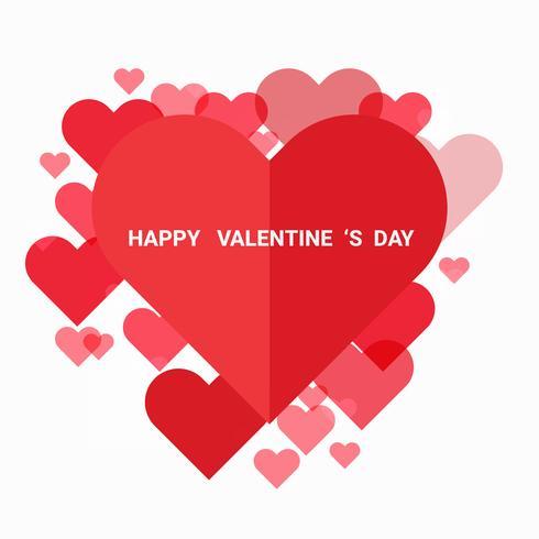 Ilustración del amor y del día de San Valentín, estilo de papel del arte.