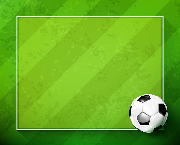Pallone da calcio con campo in vetro verde 002 vettore