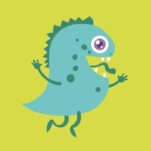 Personagem de desenho animado bonito monstro 004