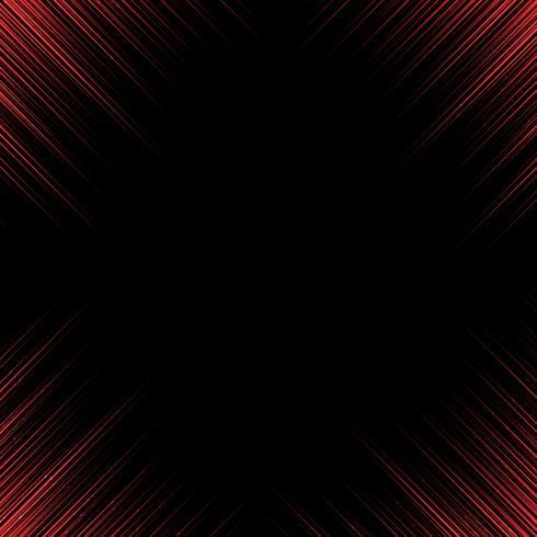 Technologie abstraite lignes rouges coin motion oblique sur fond noir avec espace de copie.