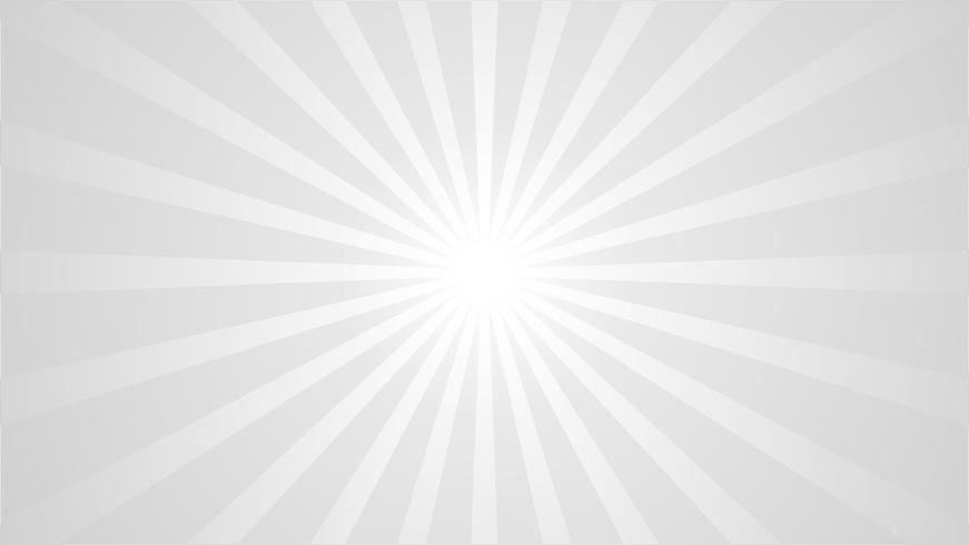 Abstract Grey and White Background with Starburst effect. and Sunburst beams element. starburst shape on white. Radial circular geometric shape.