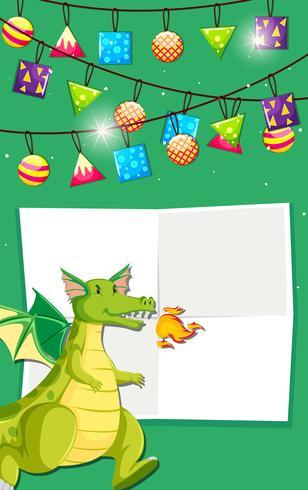 Dekorationskarte des grünen Drachen