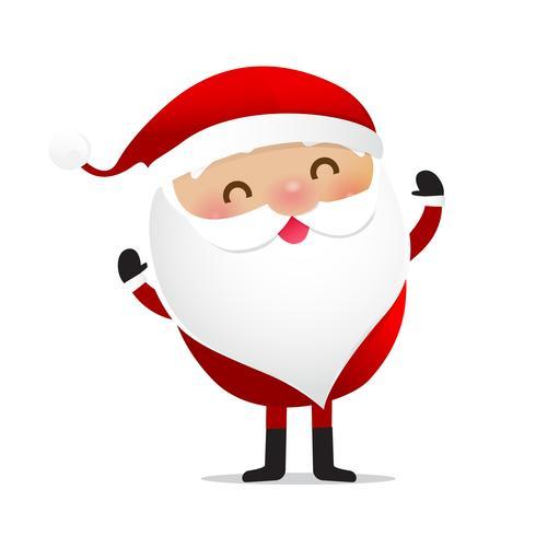 Glückliches Weihnachtscharakter Weihnachtsmann-Karikatur 014