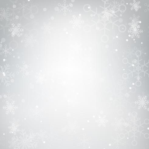Sfondo astratto neve che cade contro grigio 001 vettore