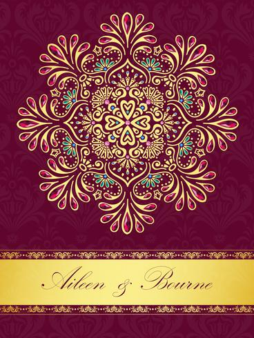 Wedding Or Invitation Card Vintage Style With Crystals Abstract Pattern Background Download Free Vectors Clipart Graphics Vector Art