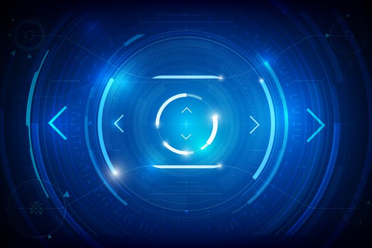Abstract HUD technology background 011