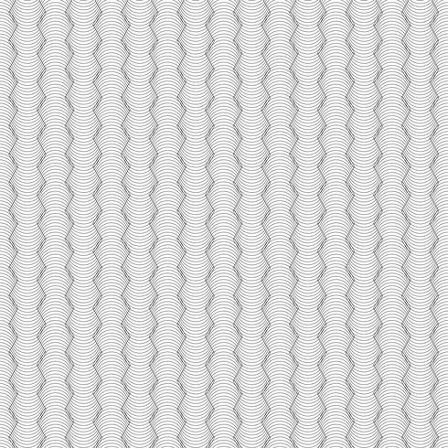 Motif de lignes courbes géométriques abstraites isolé sur fond de couleur blanche. vecteur