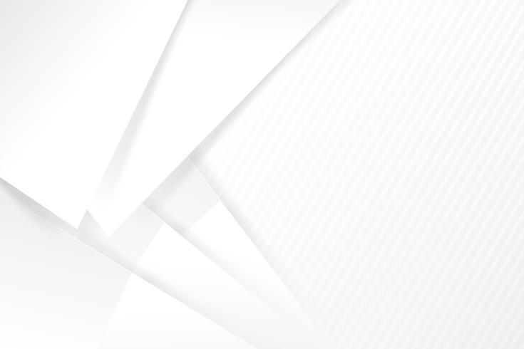 Grundlegende Geometrie des abstrakten weißen und grauen Hintergrundes überschneidet sich mit Schattenvektorillustration 003