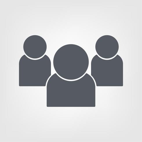 Flache dünne Linie Kunstsymbol. Illustrationsdesign Partner. Teamwork Erfolg und Gemeinschaft.