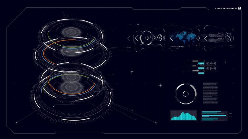 Interface GUI do HUD 005 vetor
