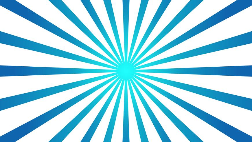 Abstract blue Background with Starburst effect. and Sunburst beams element. starburst shape on white. Radial circular geometric shape.