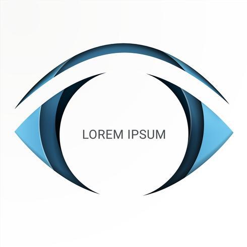 À la recherche d'opportunités. Croissance de la vision d'affaires sur le concept des yeux. style d'art de papier.