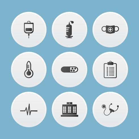Set of medical icons. vector illustrator.