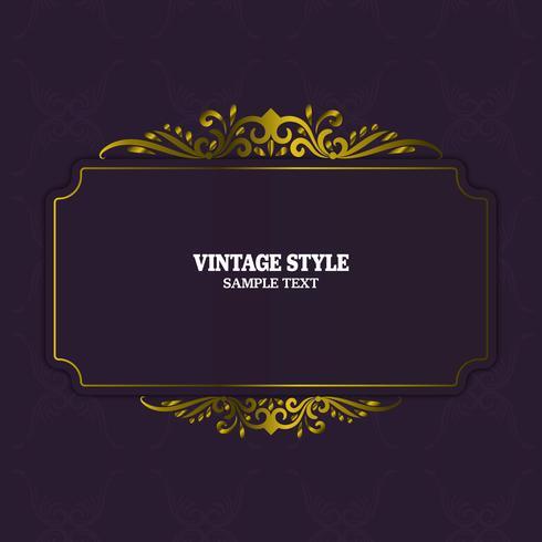 Decoraciones vintage elementos y marcos vector