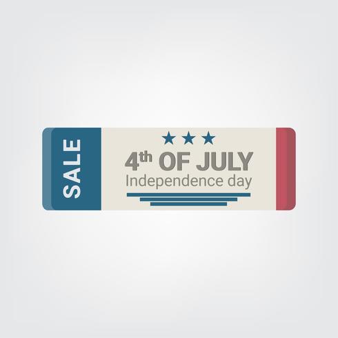 Insignes de style design plat. Joyeux Jour de l'Indépendance. 4 juillet.