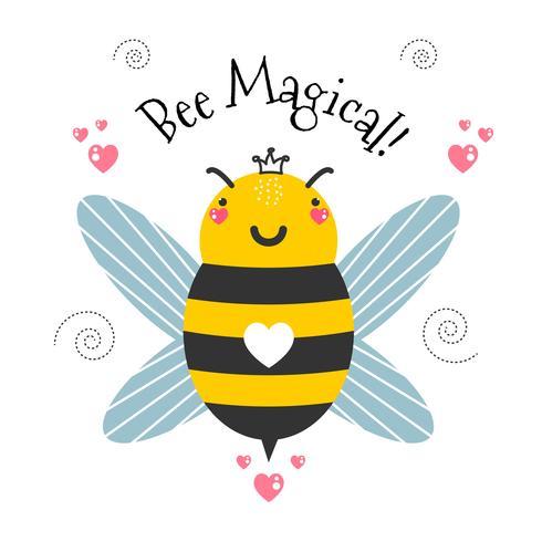 Vetor mágico de abelha