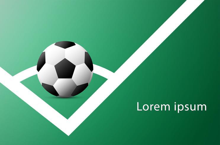 Publicidade Copa do Futebol. Anúncio de evento esportivo. Coloque seu modelo de campo Text.Soccer. ilustração do vetor.